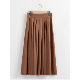 Perle Peche マイクロスパンタックギャザースカート(ブラウン)