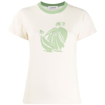 Lanvin プリント Tシャツ - ニュートラル