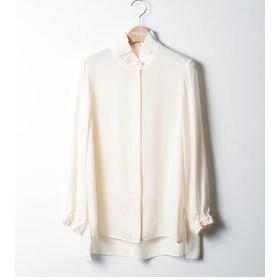【キャサリンハムネット:トップス】FRILLS COLLAR SHIRT (WOMENS) / フリルカラーシャツ