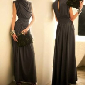 20代 フォーマル レディース タートルネック 30代 結婚式 フォーマルワンピース ノースリーブ ドレス お呼ばれ  ハイネック