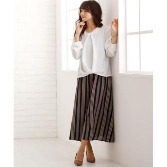 2点セット(ブラウス+異素材使いキャミソールワンピース) (大きいサイズレディース)ワンピース, plus size dress