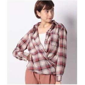 Te chichi Lugnoncure チェック柄ワイヤーシャツ LS(レッド)【返品不可商品】