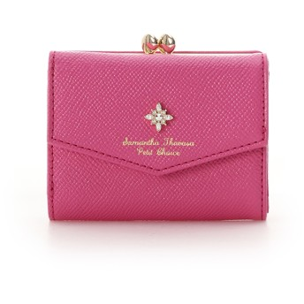 サマンサタバサプチチョイス ストーンモチーフ 折財布 フューシャピンク