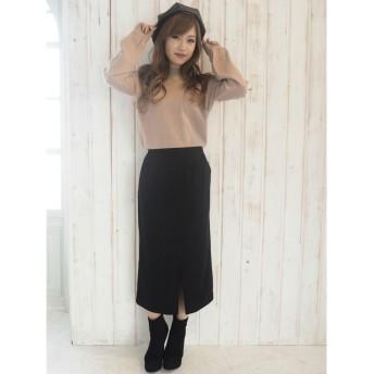 リゼクシー RESEXXY フェイクスエードロングタイトスカート (ブラック)