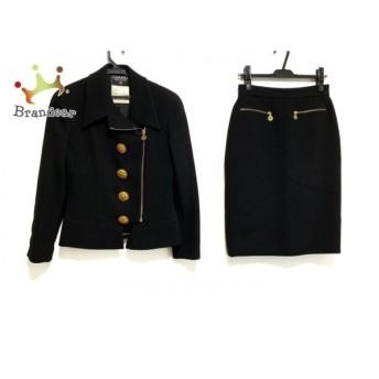シャネル CHANEL スカートスーツ サイズ40 M レディース 黒 BOUTIQUE/シルク/ジップアップ 新着 20190904