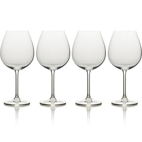 《CreativeTops》水晶玻璃紅酒杯4入(739ml)