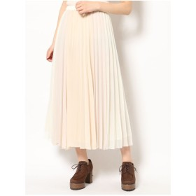 dazzlin パネルカラープリーツスカート(オフホワイト)