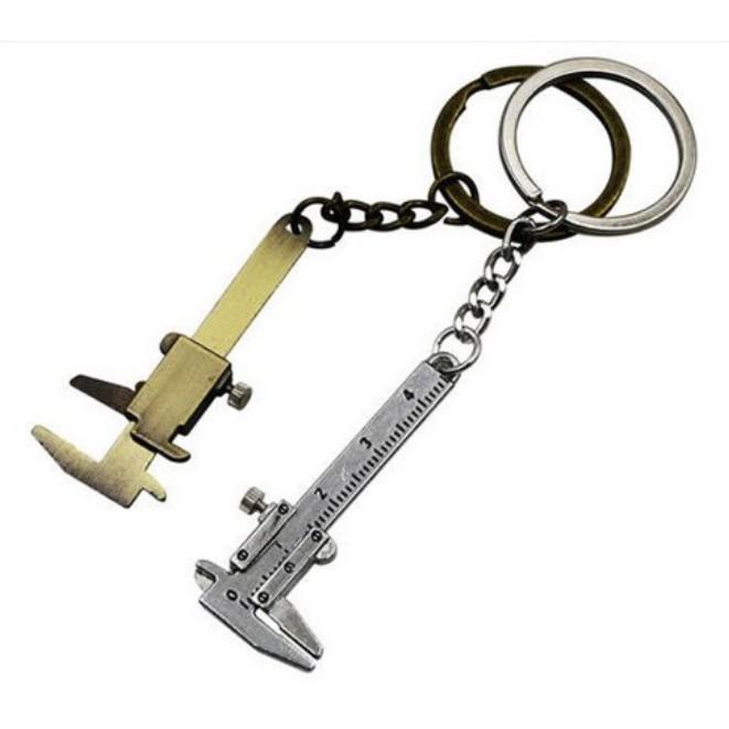 【可量mm】鑰匙圈 汽車鑰匙圈 迷你游標卡尺 生日禮物 男士禮物 交換禮物 客製化鑰匙圈