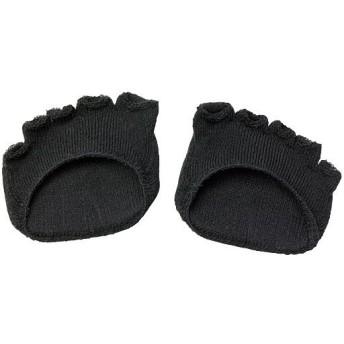 綿混サラリ 洗える足まめパッド(1足) - セシール ■カラー:ブラック