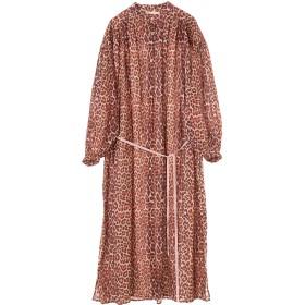 ne Quittez pas ヌキテパ/COTTON LEOPARD SHIRTS DRESS ワンピース,BROWN