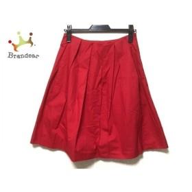ソフィードール SOFIE D'HOORE スカート サイズ36 S レディース 美品 レッド 新着 20190904