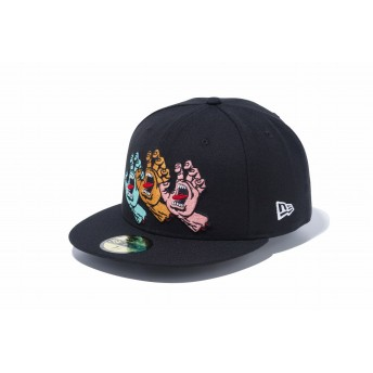 NEW ERA ニューエラ 59FIFTY Santa Cruz サンタクルーズ Screaming Hand ブラック ベースボールキャップ キャップ 帽子 メンズ レディース 7 1/2 (59.6cm) 12110810 NEWERA