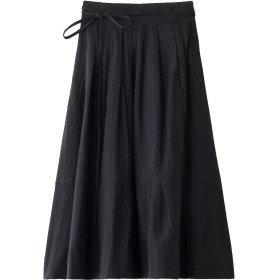 nest Robe ネストローブ ウールコットンヘリンボーンスカート チャコールグレー