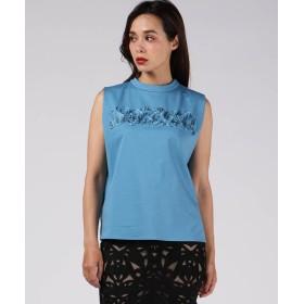 ビアッジョブルー コード刺繍バックリボントップス レディース ブルー S 【Viaggio Blu】
