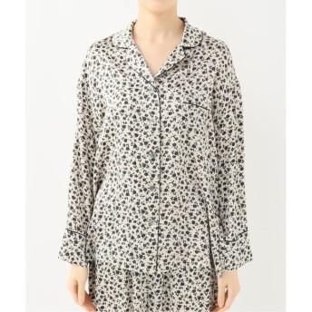 【エミリーウィーク/EMILY WEEK】 シルクパジャマシャツ(フラワー)