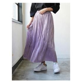 イーハイフンワールドギャラリー E hyphen world gallery ランダムプリーツスカート (Lavender)