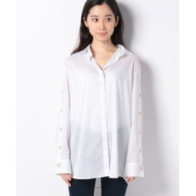 (SISLEY/シスレー)コットンストレッチワイドシャツ・ブラウス/レディース ホワイト