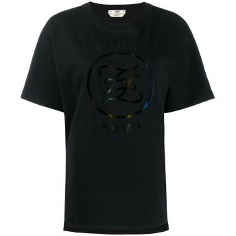 Fendi ロゴプリント Tシャツ - ブラック
