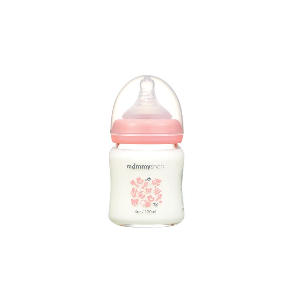 媽咪小站母感2.0玻璃奶瓶-寬口120ml
