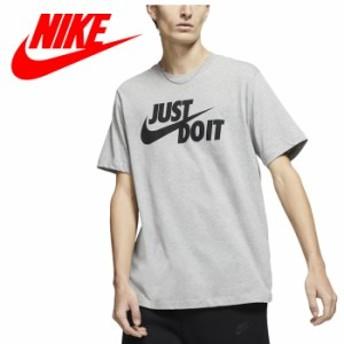 【2点までメール便送料無料】ナイキ JUST DO IT スウッシュ S/S Tシャツ AR5007-063 メンズ 19FA NIKE