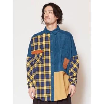 [マルイ] 【チャイハネ】チェックパッチワークMEN'Sシャツ/チャイハネ(CAYHANE)