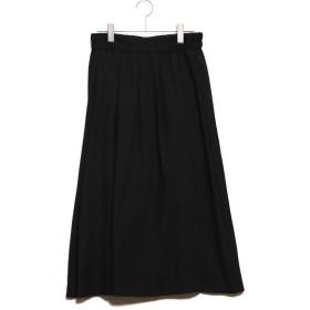 コムサイズム COMME CA ISM ギャザースカート (ブラック)