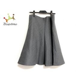 ニジュウサンク 23区 スカート サイズ48 XL レディース 美品 ダークグレー 新着 20190904
