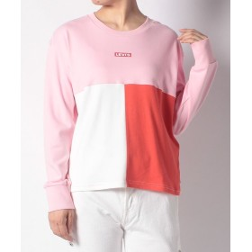 【33%OFF】 リーバイス アウトレット CROPPED COLOR BLOCK TOP PINK W/OFF WHIT レディース マルチ XS 【LEVI'S OUTLET】 【セール開催中】