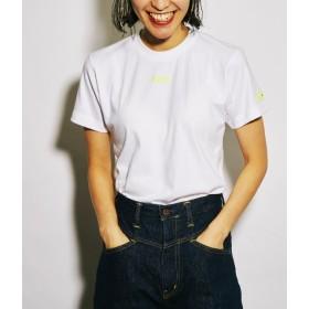 ボンジュールガール/【Bonjour Girl】Mini Logo T-Shirt/White/イエロー/M