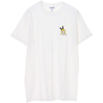 AS STANDARD AS STANDARD アズスタンダード BUNNY TEE バニーティーシャツ C/S カットソー T-SHIRTS Tシャツ・カットソー,WHITE