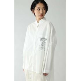 スタンドカラーオーバーシャツ ホワイト