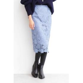 ケミカルレースタイトスカート ブルー