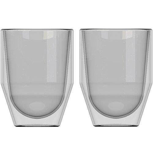 《CreativeTops》稜角雙層玻璃杯2入(200ml)