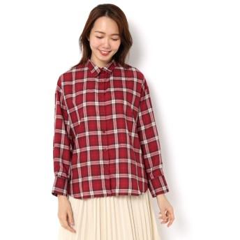 【テチチ/Te chichi】 TRチェックBIGシャツ LS