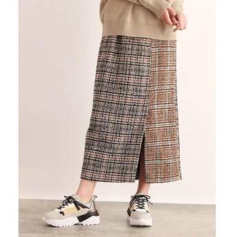 OZOC / オゾック チェック切替ナロースカート