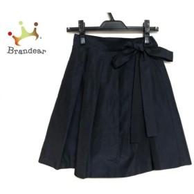 トゥモローランド TOMORROWLAND 巻きスカート サイズ36 S レディース 美品 ダークネイビー  値下げ 20191209