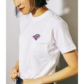 ボンジュールレコード/【Bonjour Girl】Leopard Embroidery T-Shirt/ホワイト/S