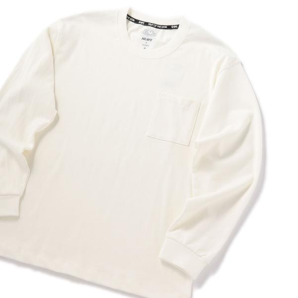 (SHIPS) 【FRUIT OF THE LOOM×SHIPS】 Tシャツ/ BOXシルエット シップス (メンズ) ロングスリーブ