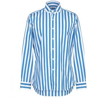 《9/20まで! 限定セール開催中》XACUS メンズ シャツ アジュールブルー 42 コットン 100%