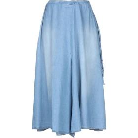 《セール開催中》SHIRTAPORTER レディース 7分丈スカート ブルー S コットン 100%