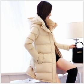韓国風 大人 冬服 ファー付き 厚手 防風 コート ダウンコート ダウンジャケ アウター フード付き 中綿ジャケ 防寒 暖かい 秋冬