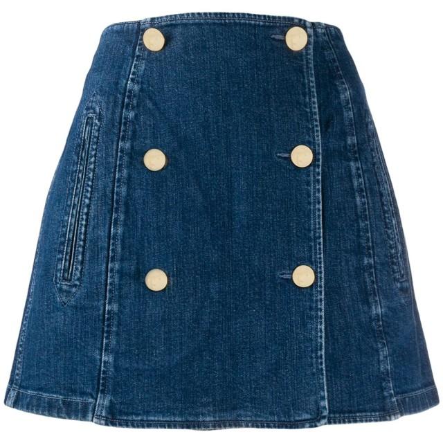 Stella McCartney Aライン デニムスカート - ブルー