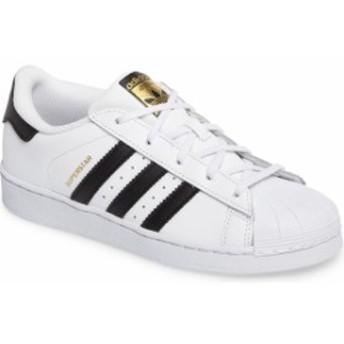 アディダス レディース スニーカー シューズ adidas 'Superstar Foundation' Sneaker (Toddler & Little Kid) White/ Black