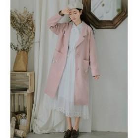 フェミニンなコート 防風 コート アウター トレンチコート コート ロング丈 ゆったりシルエ オシャレ 上品 OL 通勤