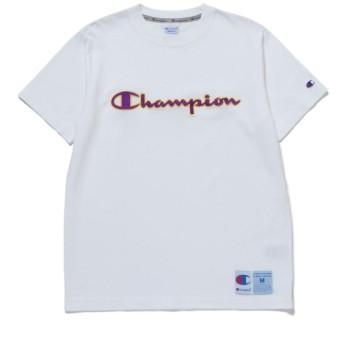 ジュンセレクト/【チャンピオン】ロゴ刺繍半袖T/ホワイト/M