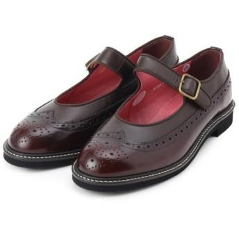 クチュールブローチ HARUTA ウイングチップストラップシューズ レディース ダークブラウン(743) 45(24.5cm) 【Couture Brooch】
