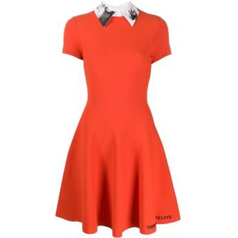 Valentino プリーツドレス - オレンジ