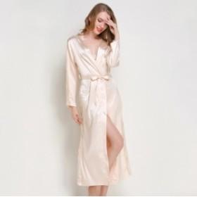 大きいサイズ 長袖 おしゃれnvィース 大人 パジャマ ネグリジェ睡裙 家庭服 セクシーな