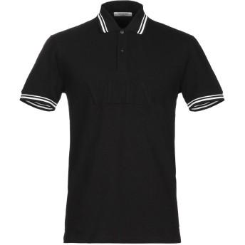 《期間限定セール開催中!》VALENTINO メンズ ポロシャツ ブラック M コットン 100%