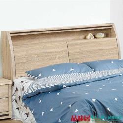 品味居 愛利斯 時尚5尺木紋雙人床頭箱(不含床底)